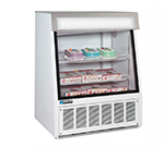 "Masterbilt FIP-40 40"" Ice Cream Novelty Merchandiser - Glass Front, Black"