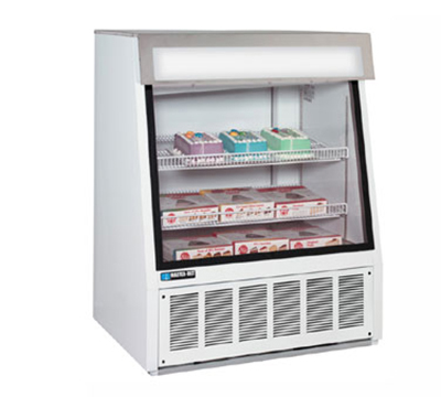 "Masterbilt FIP-40 40"" Ice Cream Novelty Merchandiser - Glass Front, White"