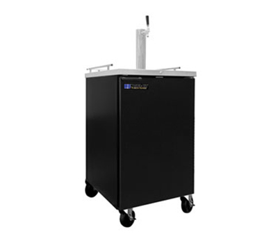 "Masterbilt MBDD24 24.3"" Direct Draw Beer Cooler - (1) Keg Capacity, 8.4-cu ft, Black"