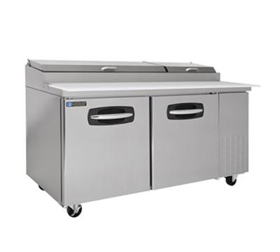 "Master-bilt MBPT67 67"" Pizza Prep Table w/ Refrigerated Base, 115v"