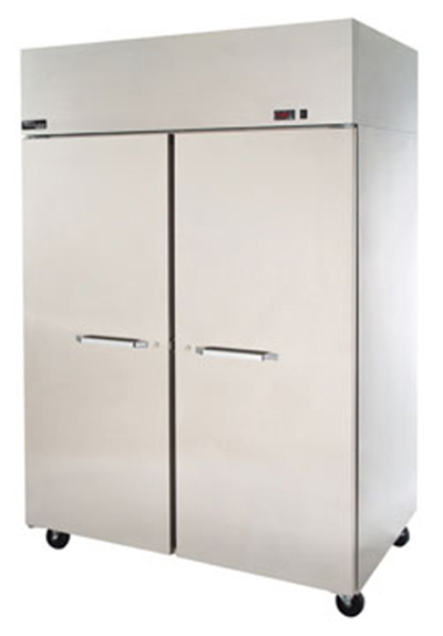 "Masterbilt MNW482SSS/8 55"" Reach-In Heated Cabinet - (2) Solid Door, 48.8-cu ft, Stainless"