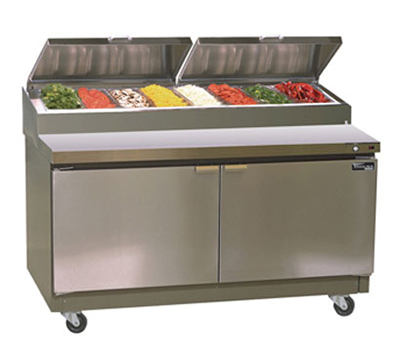 "Masterbilt MRR283SMS/0 83.75"" Refrigerated Prep Table - (8) 1/3 & (6) 1/6-Pan Capacity, (3) D"