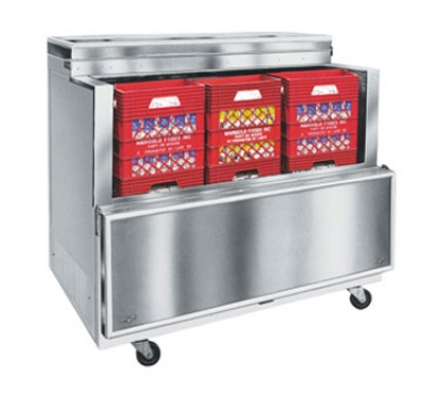 "Masterbilt OMC-122-SS-A 49"" Open Front Milk Cooler - Single Access, 17.8-cu ft, Stainless"