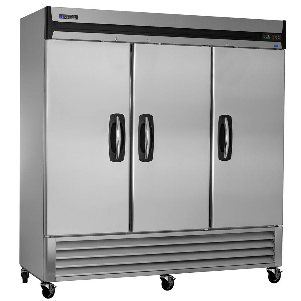 "Masterbilt MBR72-S 78"" Reach-In Refrigerator - (3) Solid Door, 70-cu ft, Stainless"