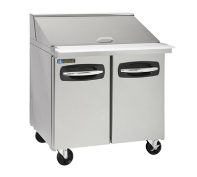 "Masterbilt MBSMP36-15 36"" Mega Top Sandwich Unit - (15) 1/6-Pans, (2) Door, Stainless"