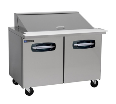 "Masterbilt MBSMP48-18 48.5"" Mega Top Sandwich Unit - (18) 1/6-Pans, (2) Door, Stainless"