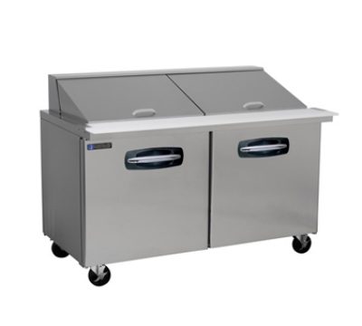 "Masterbilt MBSMP60-24 60.5"" Mega Top Sandwich Unit - (24) 1/6-Pans, (2) Door, Stainless"