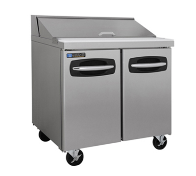 "Masterbilt MBSP36-10 36"" Refrigerated Sandwich Top - (10) 1/6-Pans, (2) Door, Stainless"
