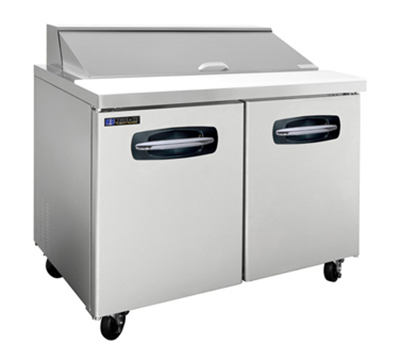 "Masterbilt MBSP48-12 48.5"" Refrigerated Sandwich Top - (12) 1/6-Pans, (2) Door, Stainless"