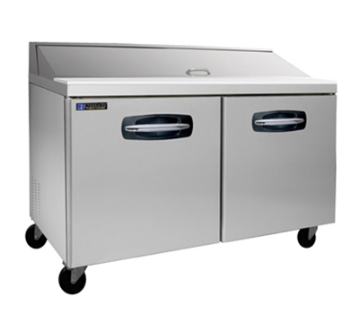 "Masterbilt MBSP60-16 60"" Refrigerated Sandwich Top - (16) 1/6-Pans, (2) Door, Stainless"