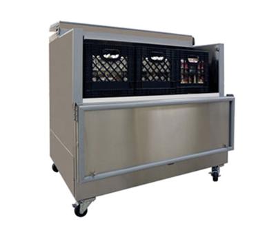 Masterbilt OMC-122-SS-A 8-Crate Milk Cooler - Side Lift Doors, 115v