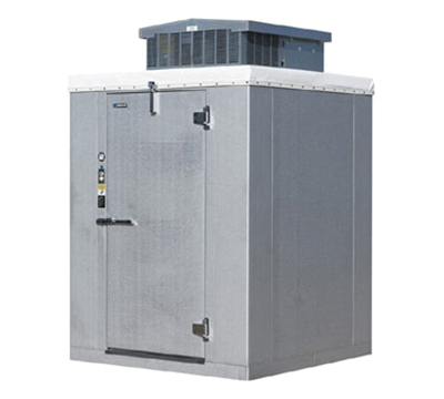 "Masterbilt W20610PE Indoor Walk-In Cooler Package (+35° F) - 5'-10"" x 9'-8"" x 7'-2"" H, 208/1v"