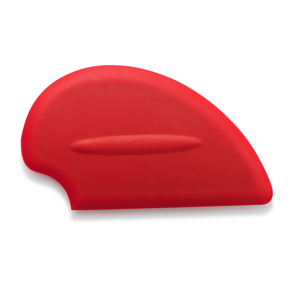 ISI B10001 Flexible Silicone Scraper Spatula, Red