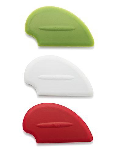 ISI B10065 Flexible Silicone Scraper Spatula Starter Set w/ Red, White & Green