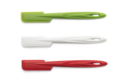 ISI B10165 Flexible Silicone Slim Spatula Set w/ Assorted Colors