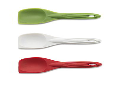 ISI B10365 Flexible Silicone Spoon Spatula Set w/ Assorted Colors