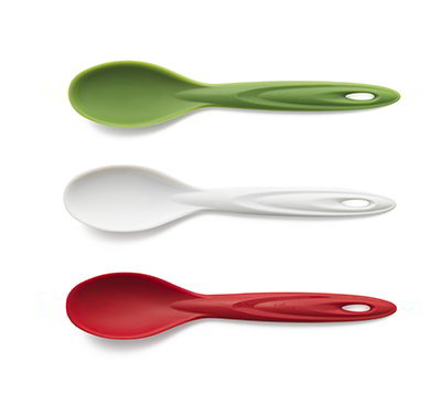 ISI B15065 Flexible Silicone Utility Spoon Set w/ Assorted Colors