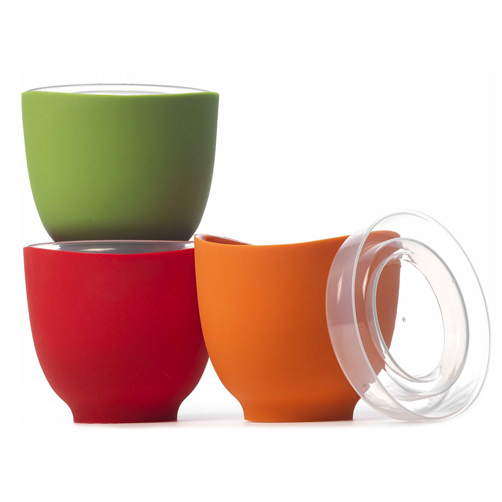 ISI B25065 Prep Bowl Set w/ (3) 2-cup Bowls & Lids, No Drip Lip, Assorted Colors