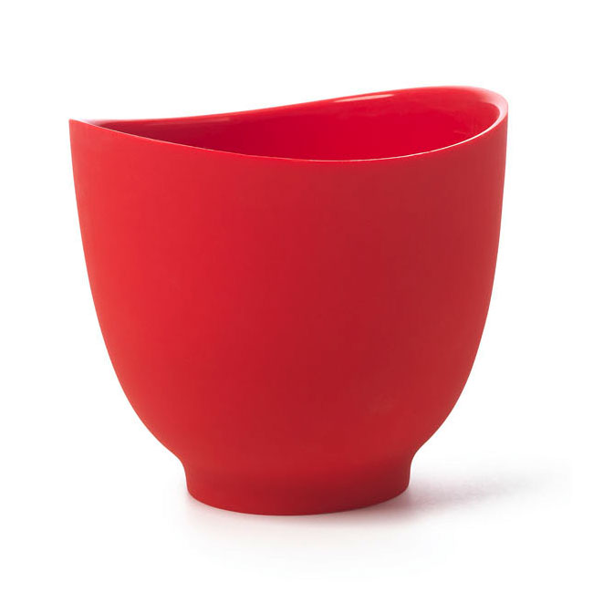ISI B26001 1-qt Flexible Mixing Bowl w/ Secure Grip Texture & Form Anywhere Spout, Red