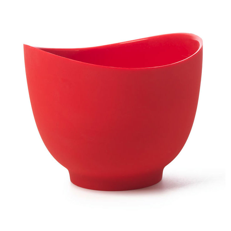 ISI B26101 1.5-qt Flexible Mixing Bowl w/ Secure Grip Texture & Form Anywhere Spout, Red