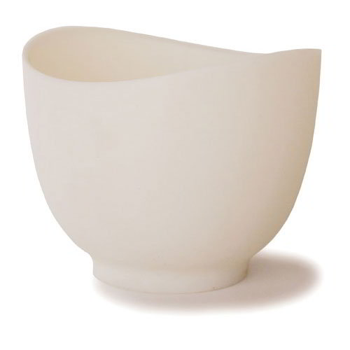 ISI B26102 1.5-qt Flexible Mixing Bowl w/ Secure Grip Texture & Form Anywhere Spout, White