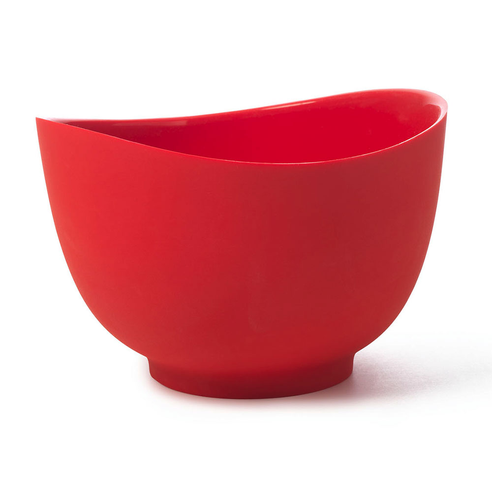 ISI B26201 2-qt Flexible Mixing Bowl w/ Secure Grip Texture & Form Anywhere Spout, Red