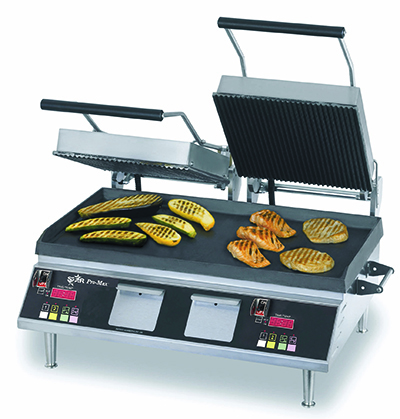 Star Manufacturing CG28IEGT Double Panini Grill w/ Cast Iron Plates & Thermostatic Control, 208/240v