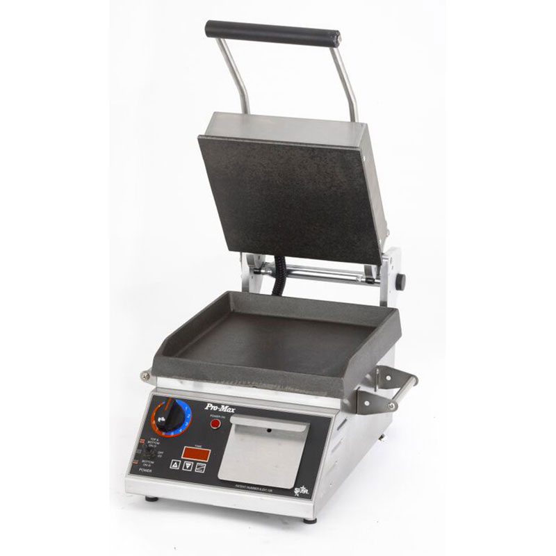 "Star Manufacturing GR14ITB 2-Sided Grill w/ Timer, HD Smooth Iron Plates, 14 x14"" Surface"