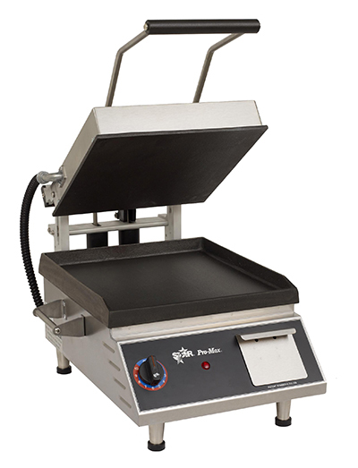 Star Manufacturing GR14B-240 Heavy Duty Sandwich Grill, Smooth 14 x 14-in Plate, 240 V