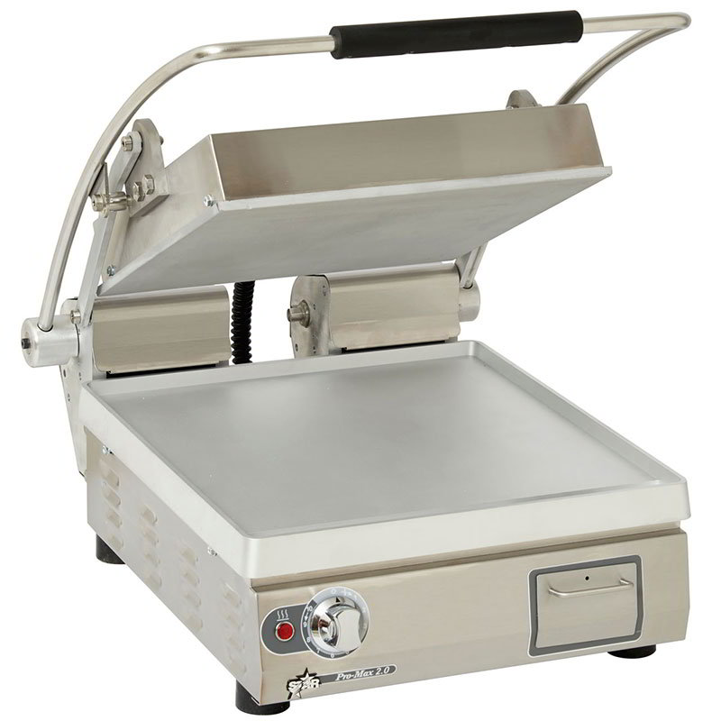 "Star Manufacturing GR14E Heavy Duty Two-Sided Grill w/ Aluminum Plate, 14x14"", 120v"