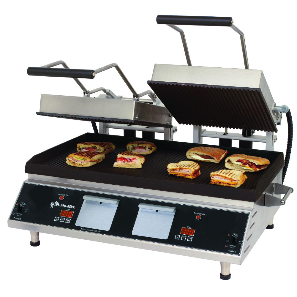 "Star Manufacturing GR28IE Heavy Duty Two-Sided Grill, Smooth Iron Plate, 14x28"", 208/240v"
