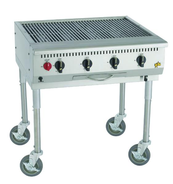 Star Manufacturing OCB30 30 in Outdoor Char-Broiler, 70,000 BTU, Stainless Steel