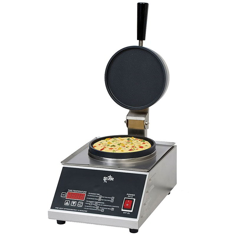 Star Manufacturing SOM7R1E Omelet Maker - Digital Timer, Non-Stick, Stainless 120v
