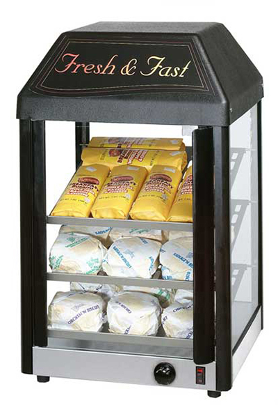 Star Manufacturing 15MCPT-230 15-in Heated Display Merchandiser, Pass Through Doors, Export