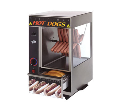 Star Manufacturing 174SBA-230 Hot Dog Broiler w/ Spike & Bun Warmer,24-Dogs & 12-Buns, Export