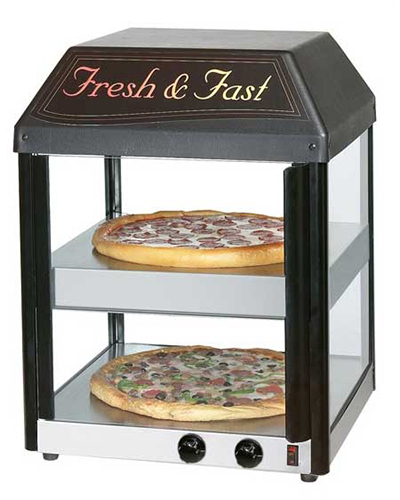 Star Manufacturing 18MCPT-230 Heated Pizza Merchandiser For (2)16-in Pizzas, Pass-Thru, Export