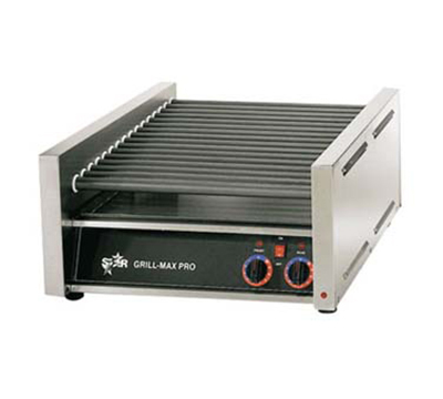 Star Manufacturing 30C Hot Dog Grill, Slanted Chrome Rollers, 30-Hot Dogs