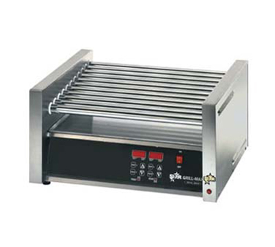 Star Manufacturing 30CBDE 30 Hot Dog Roller Grill w/Bun Storage - Slanted Top, 120v