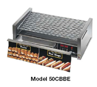 Star Manufacturing 30SCBDE 30 Hot Dog Roller Grill w/Bun Storage - Slanted Top, 120v