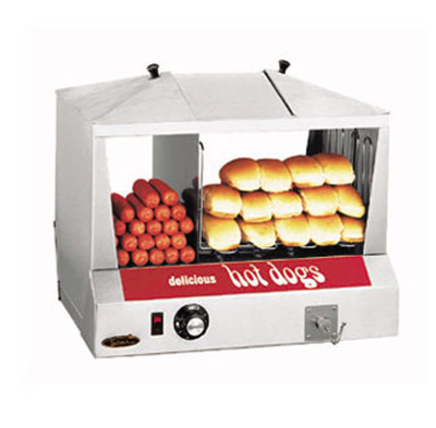 Star Manufacturing 35SSC-230 Hot Dog Steamer Bun Warmer, 130 Hot Dogs & 30-40 Buns, Export