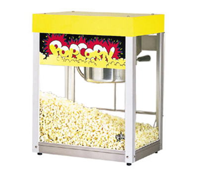 Star Manufacturing 39A-230 Popcorn Popper w/ 6-oz Kettle, (135) 1-oz Servings, Yellow, Export