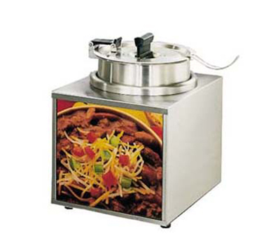 Star Manufacturing 3WLA-4H-230 Lighted Food Warmer w/ 4-qt Insert, Hinged Cover & Signs, Export