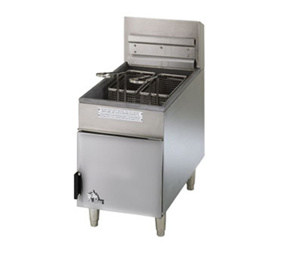 Star Manufacturing 404F 18-lb Fryer w/ Drain Valve & Snap Action Thermostat, NG