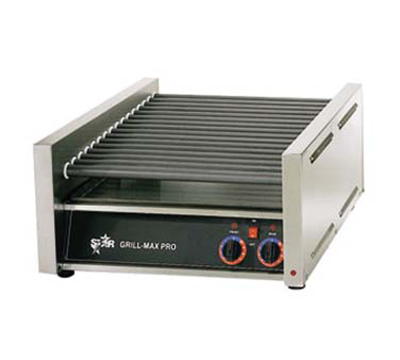 Star Manufacturing 50CE-230 Hot Dog Grill, Chrome Plate Rollers, 50 Hot Dog Capacity, Export