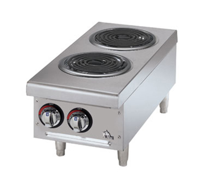 Star Manufacturing 502CF Countertop Hotplate - 2-Burner, Infinite Heat Control