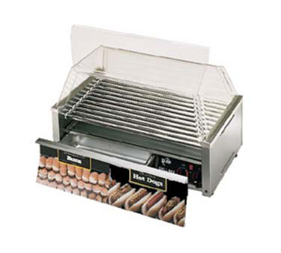 Star Manufacturing 50CBD 50 Hot Dog Roller Grill w/Bun Storage - Slanted Top, 120v