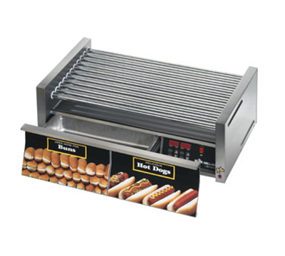 Star Manufacturing 50CBDE CSA-120 50 Hot Dog Roller Grill w/Bun Storage - Slanted Top, 120v, CSA