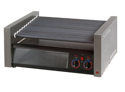 Star Manufacturing 50SCBBC-230 Roller Grill w/ Bun Holder, Non Stick, 50-Hot Dog & 48-Bun, Export