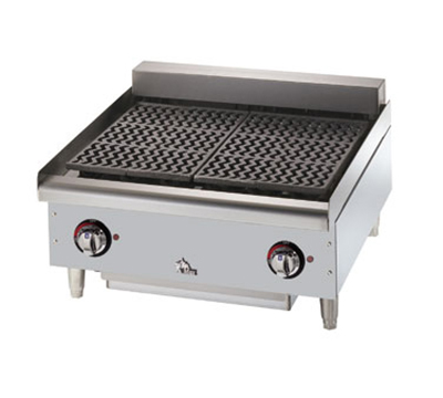 Star Manufacturing 5124CF 24-in Charbroiler w/ Removable Cast Iron Grids & Water Pan, 208/3v