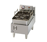 15-lb Fryer w/ Snap Action Thermostat, Twin Baskets, 1-Pot